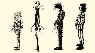 Twenty-three Tim Burton Movies Beetlejuice Fan Art Edward Scissorhands 4 Sizes Silk Fabric Canvas Poster Print 24X36Inch