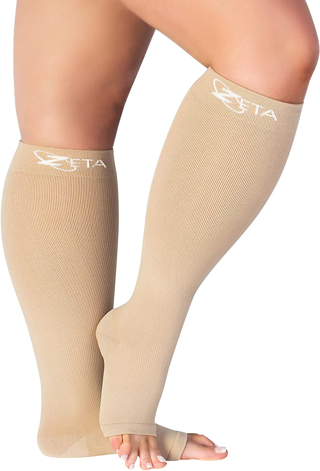Super beauty product restock quality top! Zeta Cheap mail order specialty store Socks Open Toe XXXL 26 Wide Plus Compression Calf Size Inch
