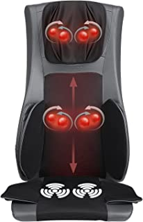 Naipo Back Massager Shiatsu Massage Chair Cushion Electric Seat Pad with Soothing Heat, Deep Kneading, Rolling, Vibration, Air Compression to Relieve Neck Shoulder Waist Back Pain