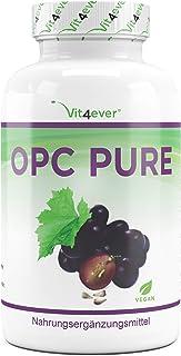 Vit4ever OPC Traubenkernextrakt - 300 Kapseln - 900 mg reines Extrakt je Tagesdosis - Premium OPC aus französischen Weintrauben - Laborgeprüfter OPC Gehalt - Vegan - Hochdosiert