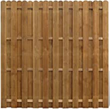 FESTNIGHT Panel de Ocultación Vertical de Madera 180 x 180 cm