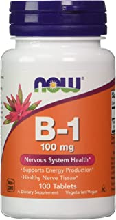 NOW Vitamin B-1 (thiamine) 100mg, 100 Tablets (Pack of 4)