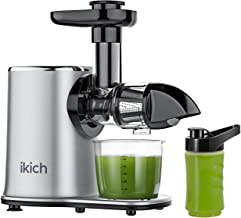 IKICH Slow Juicer 2-Speed Slow Masticating Juicer Easy to Clean, High juice yield, Reverse Function Cold Press Juicer Mach...