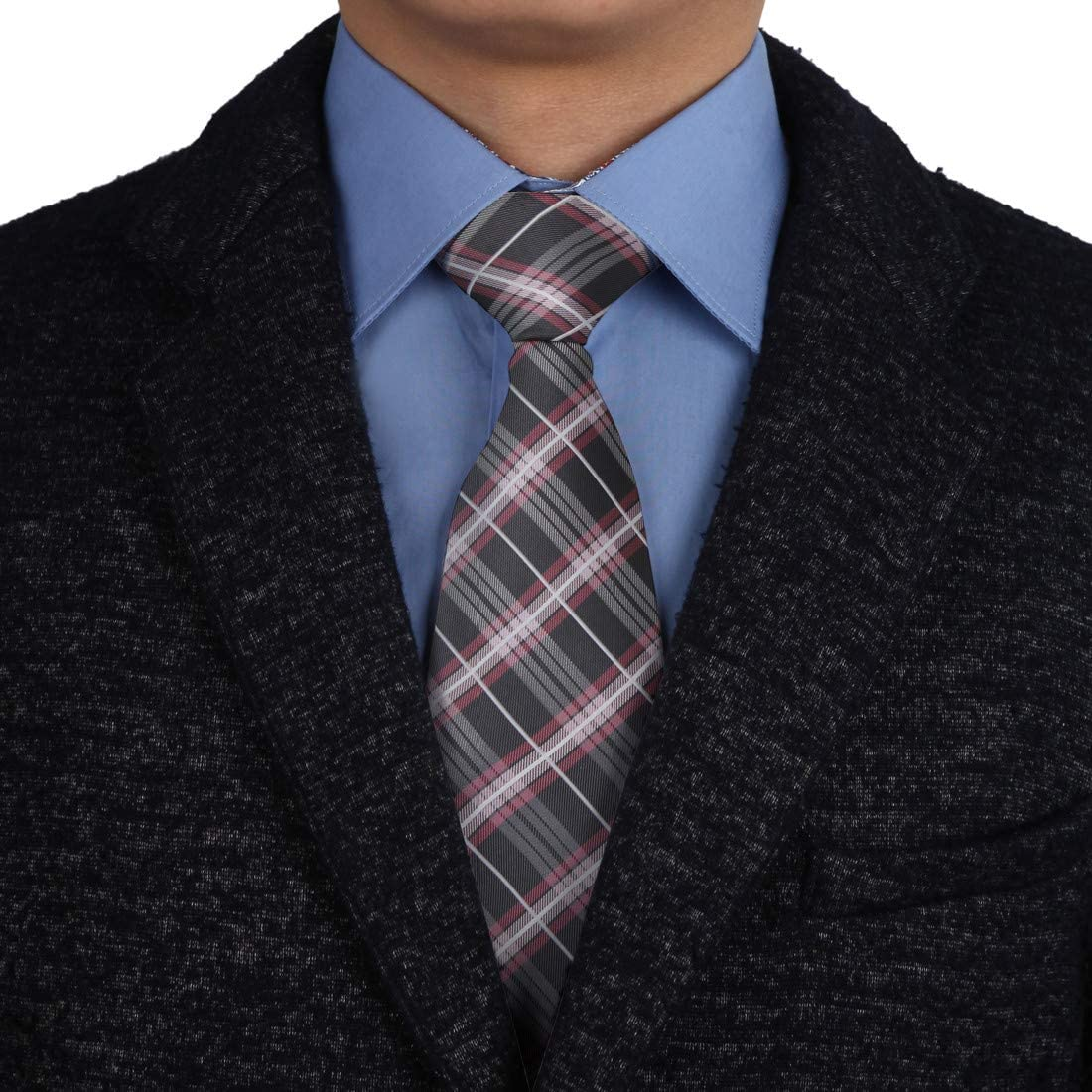 Epoint Men's Fashion Multicolor Silk Checkers Long Necktie For Bussiness Meeting