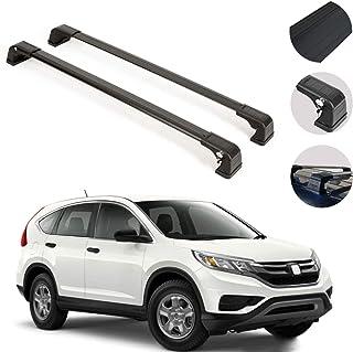 OMAC Acessórios exteriores de automóveis Barras transversais | Suportes de carga de teto pretos com trava de alumínio | Co...
