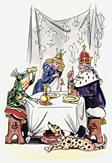 Posterazzi Poster Print Collection Frog Prince./Nillustration by Fritz Kredel for the Fairy Tale by Brother'S Grimm, (24 x 36), Multicolored