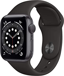 Apple Watch Series 6 (GPS, 40mm) - Space Grey Aluminium Case with Black Sport Band