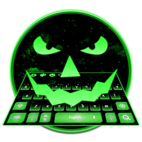 Neon Green Fluorescent Smile Keyboard Theme