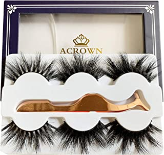 Real Mink Lashes Fluffy Long 3D Dramatic Eyelashes Face Lash Strip 20mm Pack