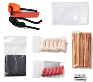 OFF GRID TOOLS Mini Fire B.O.S.S.Bug Out Bag Fire Starting Survival Kit. 21 Piece Fire Starting Kit