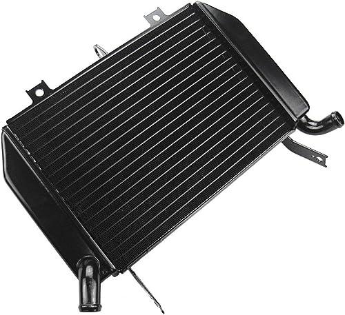 Mallofusa Motorcycle Aluminum Radiator Cooling Cooler Compatible for Suzuki TL1000R 1998 1999 2000 2001 2002 2003 Black