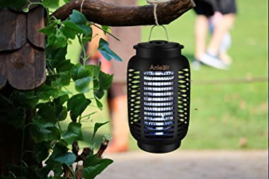 Anlevit Bug Zapper,Effective 4250V Electric Mosquito Zappers Killer - Insect Fly Trap, Waterproof for Indoor & Outdoor -