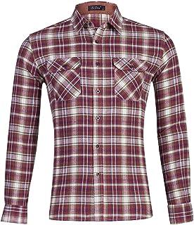 Men Shirt Long Sleeve Slim Cotton Plaid Shirt Casual Fashion Business Shirt