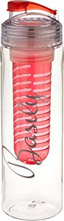 Basily Elite Infuser Water Bottle - 28 ounce - Made with Commercial Grade Tritan - PLUS Recipe Ebook INCLUDED (Red), Red