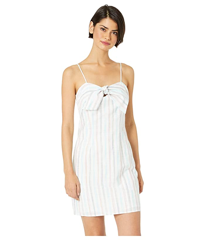 Cupcakes and Cashmere Soleil Stripe Shift Dress (Optic White) Women