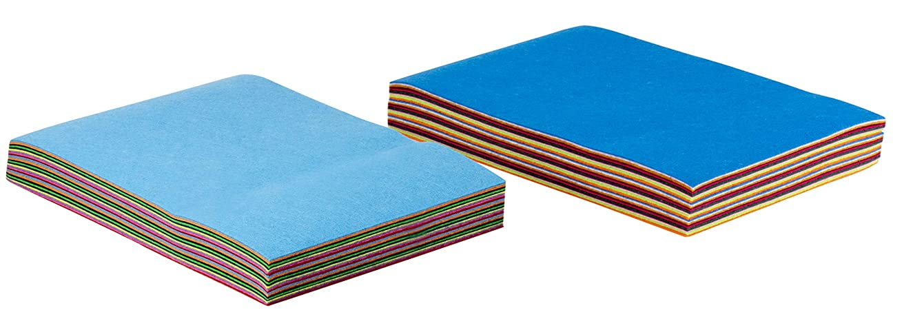 Felt Sheet - 60-Pack Felt Fabric Sheet for DIY Art Crafts, Patchwork Sewing Supplies, 20 Assorted Colors, 3 of Each Color, 7.8 x 11.8 Inches, 20 x 30 cm, 1.5 mm Thick