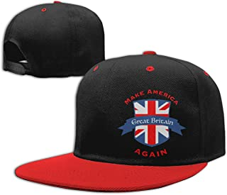 Make America Great Britain Again Customized Boys and Girls Hip Hop Flat Hat Kids Adjustable Baseball Caps