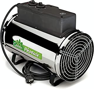 Bio Green PHX 2.8/US Phoenix Electric 3412/6141/9553 BTU 1000/1800/2800 W-240 V Greenhouse Heater, 2 Years Warrenty, 18 x 15 x 11 in, Silver
