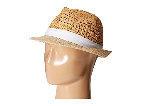 be6d2df75c53a Steve Madden Two Weave Banded Fedora at Zappos.com