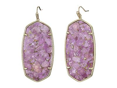 Kendra Scott Faceted Danielle Earrings (Gold/Bronze/Veined Lilac) Earring
