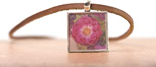 Wild blue yonder rose Photo Necklace