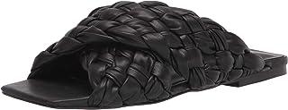 Steve Madden Women's Flat Slide Sandal, Black, 8