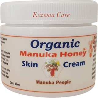 Organic Manuka Honey Intense Moisture Baby Skin Cream By MANUKA PEOPLE for Eczema, Psoriasis, Rosacea Or As An All Purpose Cream. A Lasting Treatment for Dry, Cracked, Itchy, Red & Irritated Skin