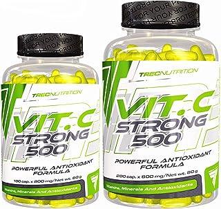 Trec Nutrition Vitamina C con zinc | Complemento alimenticio | Ácido ascórbico en dosis altas | Contribuye al sistema inmunológico normal (300 Cápsulas)