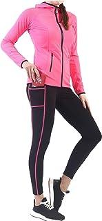 مجموعة ملابس نشطة للنساء - ملابس للتمرينات الرياضية ملابس السباق اليوغا الهرولة لباس ضيق سترة 2 قطعة مجموعة