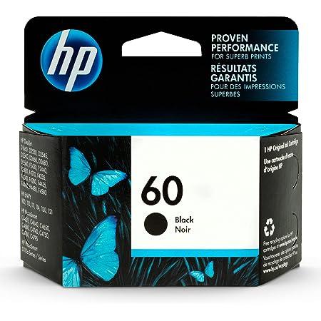 HP 60 | Ink Cartridge | Black | Works with HP DeskJet D2500 Series, F2430, F4200 Series, F4400 Series, HP ENVY 100, 110, 111, 114, 120, HP Photosmart C4600 Series, C4700 Series, D110a | CC640WN