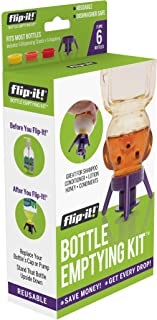 Flip-it! Bottle Emptying Kit - Deluxe - Flip Bottle Upside Down To Get Every Last Drop Out of Honey, Ketchup, Condiments a...