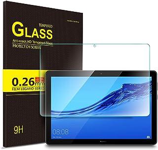 Luibor Huawei MediaPad T5 10 Tablet Protector de pantalla de vidrio templado Ultra-thin 9H Dureza y la más alta calidad HD clear Protector de pantalla de vidrio para Huawei MediaPad T5 10 Tableta (1 pieza)
