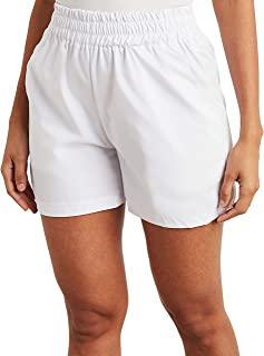 Elasticised Waistband Shorts with Side Pocket 80417636 For Women Closet by Styli