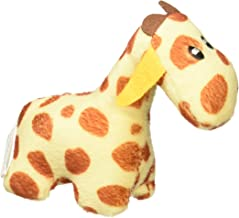 ZippyPaws - Zoo Friends Burrow, Interactive Squeaky Hide and Seek Plush Dog Toy - Giraffe Miniz, 3 Pack