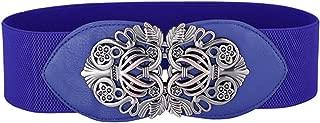 Meetloveyou women gold metal belt ladies girls metal leaf stretchy elastic waist belt waistband belts for women