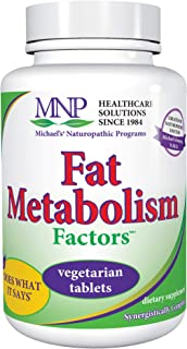 Michael's Naturopathic Programs Fat Metabolism Factors - 180 Vegan Tablets - Nutrients for The Metabolism of Fats & Choles...