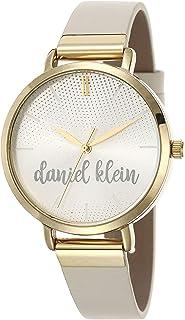 DANIEL KLEIN Trendy Alloy Case Genuine Leather Band Ladies Wrist Watch - DK.1.12492-3