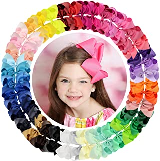 willingTee 40colors Grosgrain Ribbon Hair Bows Alligator Clips Hair Accessories for Baby Girls Infants Toddlers Teens Kids...