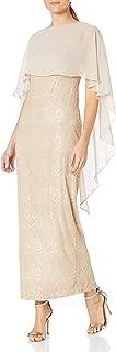 Women's Long Sleeveless Capelet Sheath Dress