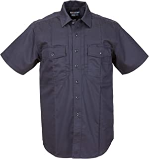 Tactical Men's Station Non-NFPA Short Sleeve Shirt, Class B, Cotton/Nylon, Fire Navy, Large, Style 46124