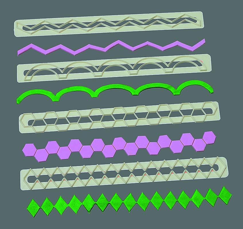 FMM Sugarcraft Geometric Edging Frill Set By Culpitt