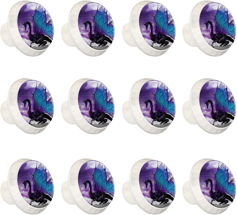 Zuyoon Cabinet 4 years warranty Hardware Knobs Dragon Flying Max 64% OFF Purple