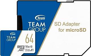Team microSDXCカード 64GB 高速転送UHS-1 U3 V30 A1対応 日本国内10年保証 SD変換アダプター付属 正規品
