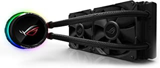 ASUS ROG Ryuo 240 all-in-one liquid CPU cooler with color OLED, Aura Sync RGB, and ROG 240mm radiator fan
