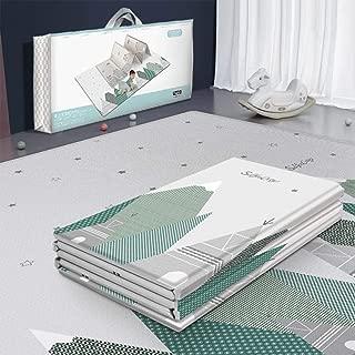 Alfombra grande para juegos para bebés POXL, alfombra para gatear portátil, alfombra acolchada antideslizante, 200 x 180 cm