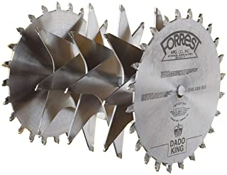 Forrest DK10244G Dado King 10-Inch 24/4 Tooth 29/32-Inch Kerf Saw Blade with 1-Inch Arbor