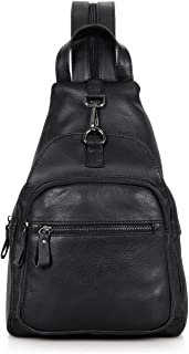 Genda 2Archer Leather Sling Bag Casual Daily Backpack Midsize Travel Shopping Outdoor