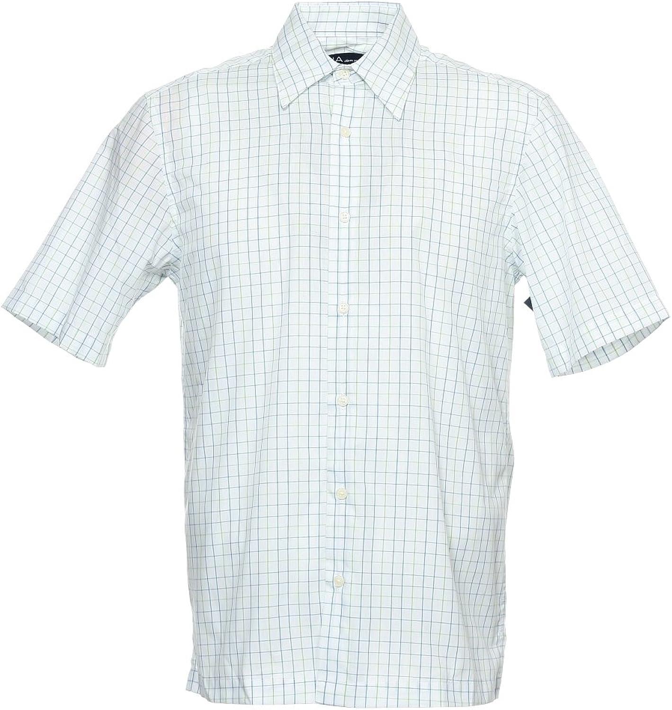 John Ashford Men's White Window Pane Button Down Shirt