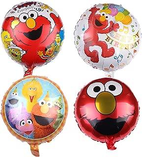 4 Pcs ELMO Foil Balloons for Kids Gift Birthday Party Supplies Decor