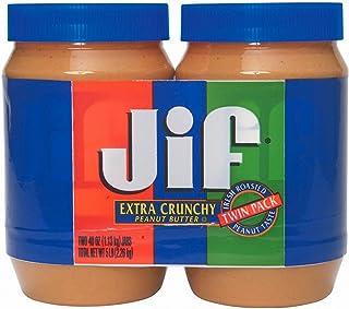 Jif Extra Crunchy Peanut Butter - 2 jars - 40 oz. each